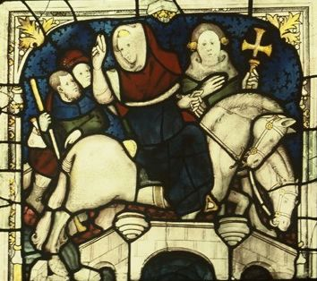 St William crosses the Ouse bridge, panel 9c. © Dean and Chapter of York.