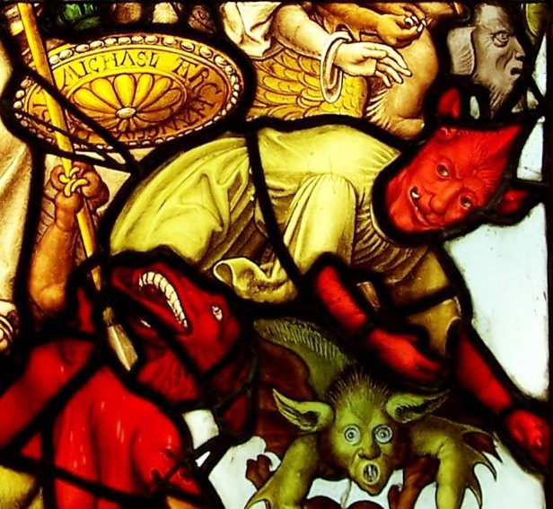 Demons from the Steinfeld Abbey glass.