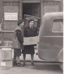 Barbara Scott (left) and Pamela Dugdale (right) working for the Red Cross during WWII. Image courtesy of Mr Sam Dugdale