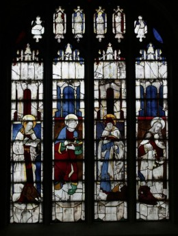 The first window, window 17: St John, St Luke, St Mark, St Matthew