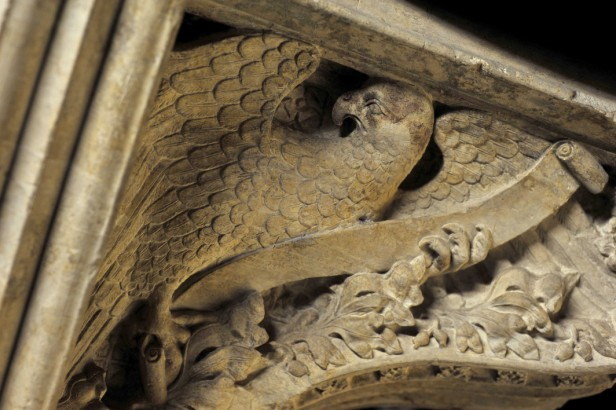 Carving of an eagle from the 1330s tomb. © the Yorkshire Museum