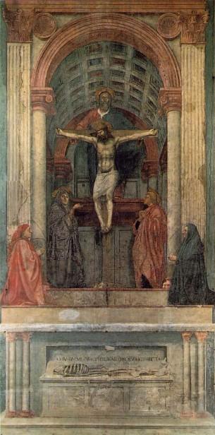 Santa Trinità, Masaccio. Santa Maria Novella, Florence.