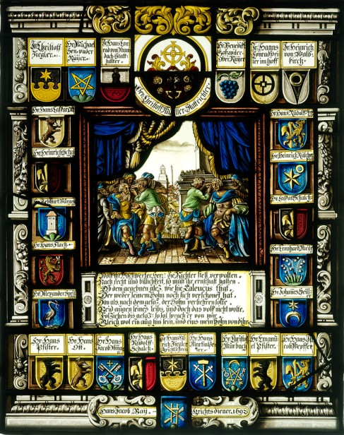 Panel of the Schaffhausen magistracy, 1692, Hans Heinrich Ammann, MzA (cat. no. 83).