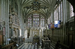 The Beauchamp Chapel looking east.
