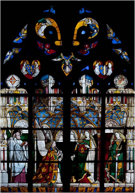 'The Annunciation', Jacques Coeur Window, Bourges Cathedral, France.