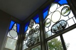 Restored Stained Glass in the Great Parlour at Strawberry Hill. © Richard Holttum.