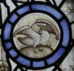 Swan gorged with coronet, from the Church of All Saints, Thurcaston (Leics), see Medieval English Figurative Roundels. © Y M Pictures.