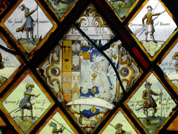 Gamul/Poole armorial, from Poole Hall. © author.