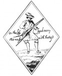 Musketeer formerly at Tranmere Old Hall, drawn by J. Mayer.