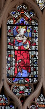 St Edward Confessor, Exeter Cathedral east window. © c b newham.