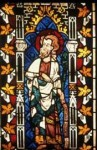 Fig. 3. Figure of the Prophet Isaiah from the 1304 scheme, Exeter Cathedral east window, panel 2G