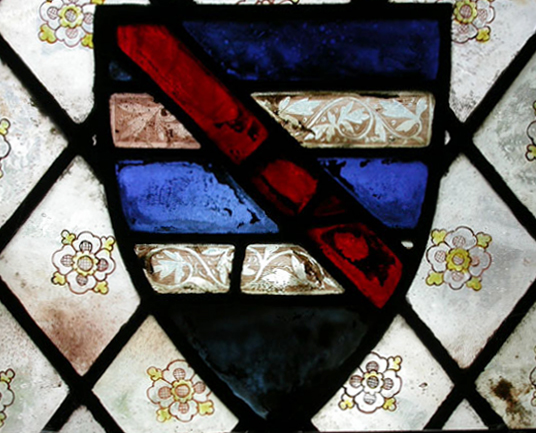 The Legh arms, Church of St Wilfred, Mobberley, Chancel, south window, sII. © P. Hebgin-Barnes.