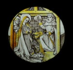 Fig. 1. Stained Glass Roundel of the Nativity, France, Burgundy, Dijon, c. 1450. © and by courtesy of Sam Fogg.