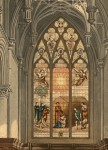 Fig. 1.The Price Adoration as recorded by Charles Wild about 1820. The gentler but less detailed Ackermann version may be seen in the 2009 Journal of Stained Glass, page 59.