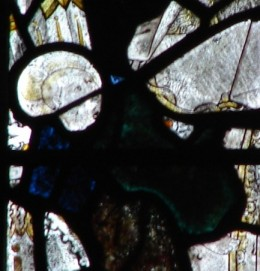 Fig. 4. Christ Child, Lady Chapel east window, Gloucester Cathedral. © Chapter of Gloucester Cathedral.