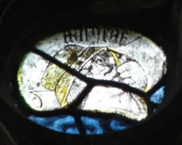 Fig. 2. The prophet Micheas, Lady Chapel side window, Gloucester Cathedral. © Chapter of Gloucester