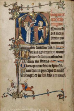 Fig. 1. The Annunciation from the Ruskin Hours, early 14th century. ©The J. Paul Getty Trust.