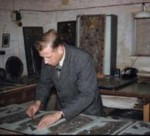 Dennis King of G. King & Son, in the workshop in the 1960s.