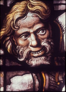 The joiner at the Nailing to the Cross, east window, King's College Chapel, Cambridge.