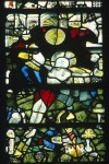 The Nailing to the Cross, east window, Great Malvern Priory (Worcs.).