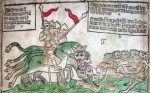Fig. 4. Apocalypse illustration from a fifteenth-century Netherlandish block-book