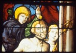 Fig. 3. Detail of the Creation window: Adam and Eve being driven from the Garden of Eden.