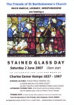 Poster for the Much Marcle Stained Glass Day