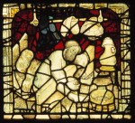 A panel from the St William Window before restoration