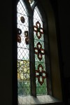The newly reinstalled glass at Bramshall church