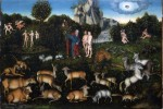 Fig. 2. Lucas Cranach the Elder (c.1472–1553), 'Adam and Eve in the Garden of Eden' (1530). Oil on panel, 80 x 118cm, Staatliche Kunstsammlungen, Dresden (Gemäldegalerie).