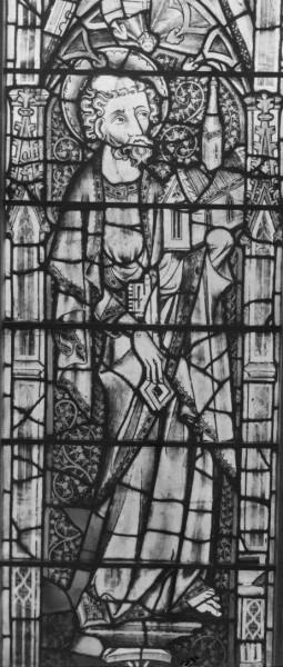 St Peter from the Great East Window of Gloucester Cathedral