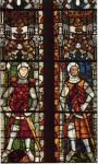 Fig. 2. Two lords of Tewkesbury, from the choir clerestory of Tewkesbury Abbey, Gloucestershire, c.1340–04