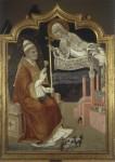 'The Virgin Recommends Siena to Pope Callixtus III', 1456, by Sano di Pietro (1405–81). Pinacoteca Nazionale, Siena (241). © courtesy of Ministero per i Beni e le Attività Culturali, Soprintendenza PSAE di Siena & Grosseto. Photo Lensini Siena.