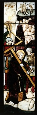 Christ Carrying the Cross to Calvary: east window, church of St Mary, Fairford, Gloucestershire