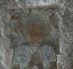 Fig. 2. The brass of Sir Edmund Tame in the church of St Mary the Virgin, Fairford, Gloucs. (C) C. B. Newham.