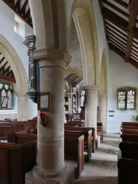 The south aisle, looking east.