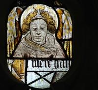 East window, panel B7