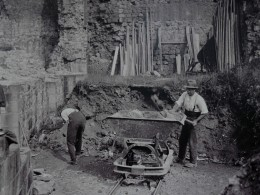 Clearing the site, c1920 © English Heritage
