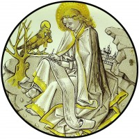 Roundel depicting St John the Evangelist © Gallery Les Enluminures