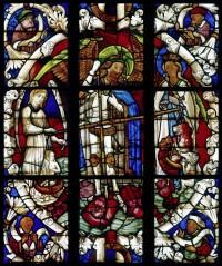 St Michael weighing souls. Church of St Nicholas, Bad Wilsnack.
