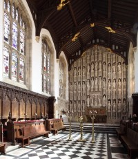 Chapel, looking east, All Souls College, Oxford