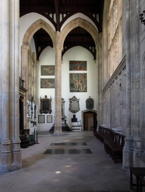 Interior of the antechapel, looking south