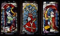 Fig. 3. Donor panels. Nuremberg, St Martha, choir, I 1a–c. (Rüdiger Tonojan, CVMA Freiburg)