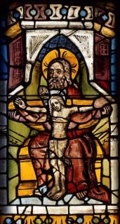 Fig. 9. Mercy Seat Trinity. Nuremberg, St Martha, choir, I 6b. (Rüdiger Tonojan, CVMA Freiburg)