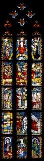 Fig. 10. The Last Judgement. Nuremberg, St Martha, choir, sV (whole window). (Rüdiger Tonojan, CVMA Freiburg)