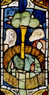 Fig. 12. Plants sweating blood. Nuremberg, St Martha, choir, nIII 5c. (Rüdiger Tonojan, CVMA Freiburg)
