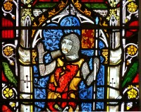 Fig. 7. Donor knight, church of St Mary, Shrewsbury.
