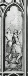 Fig. 4. Figures of Reynolds and Jervais, west window, New College.