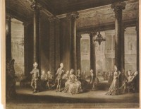 Fig. 10. Richard Earlom after Michel Vincent Brandoin, The Inside of the Pantheon in Oxford Road, mezzotint, 1772, published by Robert Sayer © Trustees of the British Museum.