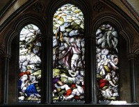 Fig. 11. James Pearson after John Hamilton Mortimer, The Brazen Serpent, 1781, Salisbury Cathedral, Choir, east window. ©Rex Harris.